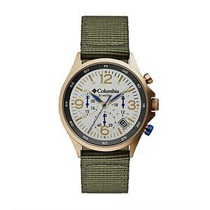 Columbia Men's Canyon Ridge Stone Chronograph Olive Nylon Watch - CSC02-004