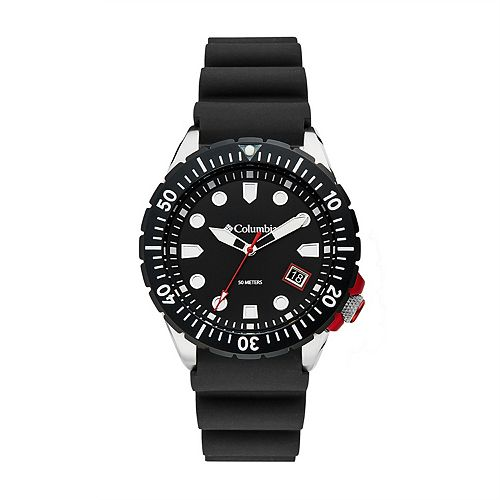 Columbia Men's Pacific Outlander Black Silicone Watch - CSC04-001