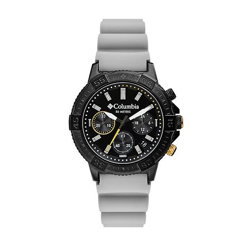 Columbia Men's Peak Patrol Chronograph Gray Silicone Watch - CSC03-005