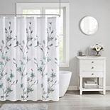 Madison Park Sylvan Floral Printed Burnout Shower Curtain