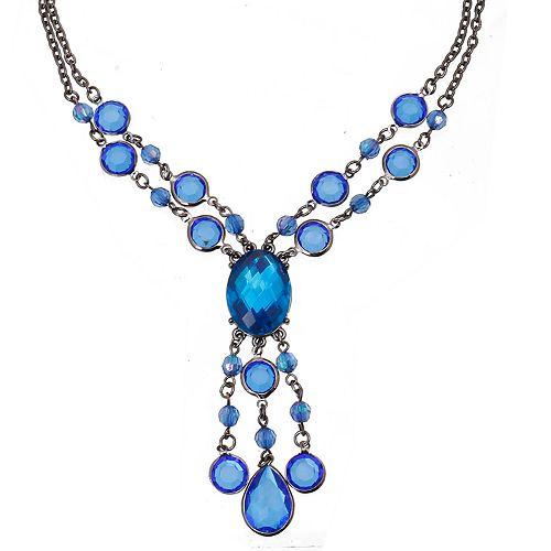 1928 Blue Y-Necklace