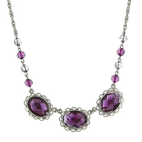 1928 Purple Collar Necklace