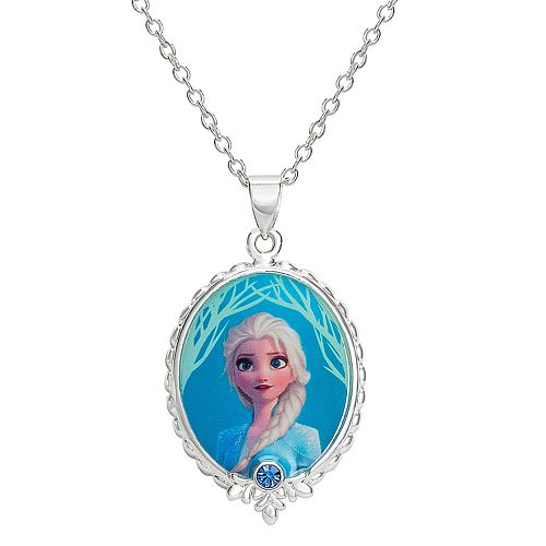 Disney's Frozen Elsa Crystal Pendant Necklace