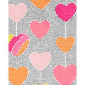 Girls 4-14 Carter's 4-Piece Hearts Snug Fit Cotton Pajama Set