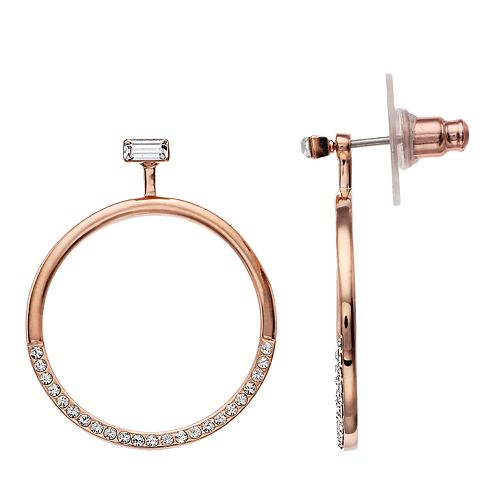 Brilliance Circle Earrings with Swarovski Crystal
