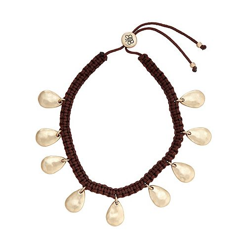 Bella Uno Teardrop Disc Adjustable Cord Bracelet