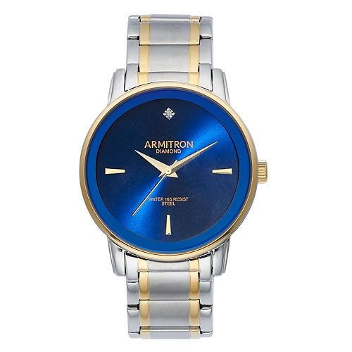 Armitron Men's Diamond Accent Two Tone Dress Watch - 20-5263NVTT
