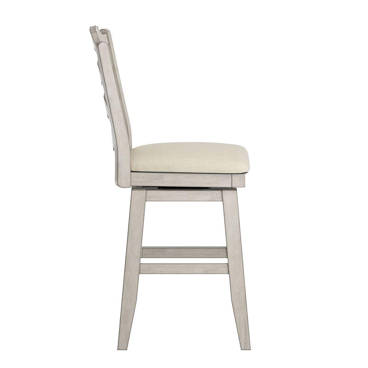 HomeVance Zackery Ladder Back Swivel Dining Chair Black i7VpR