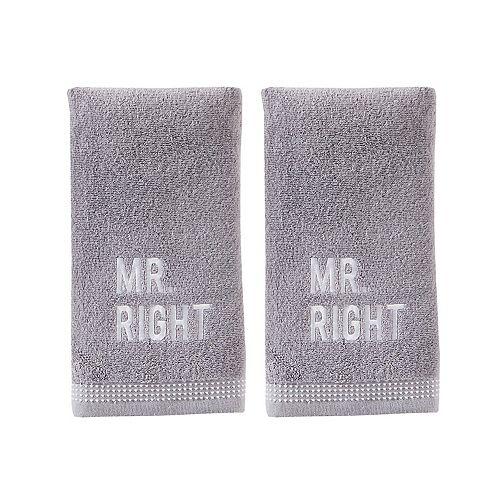 SKL Home Mr Right 2-pack Hand Towel Set