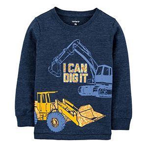 Toddler Boy Carter's Construction Snow Yarn Tee