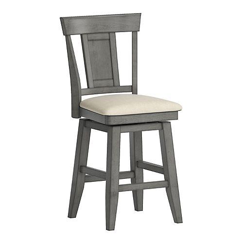 HomeVance Zackery Panel Back Swivel Dining Chair