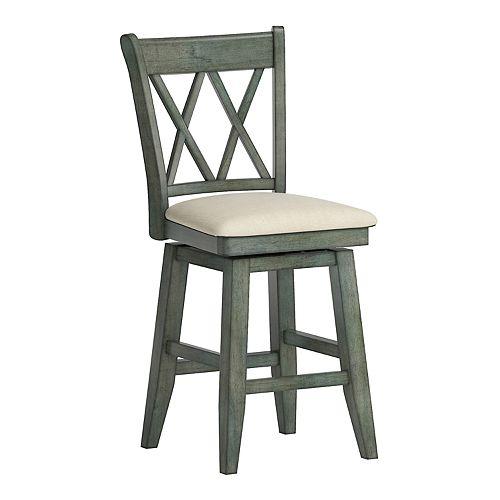 HomeVance Zackery Cross Back Swivel Dining Chair