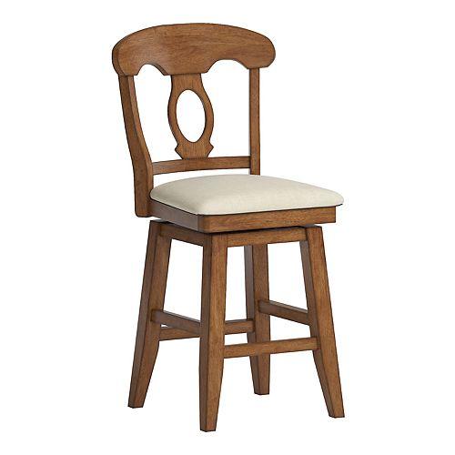 HomeVance Zackery Napoleon Back Swivel Dining Chair