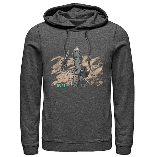 Men's Star Wars The Mandalorian IG-11 Dusty Droid Graphic Hoodie
