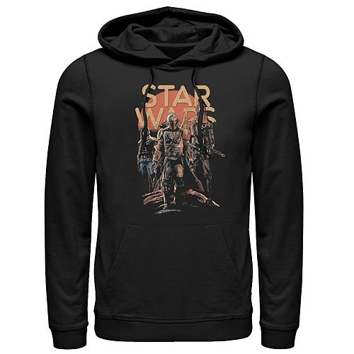 Men's Star Wars The Mandalorian Character Entourage Graphic Hoodie