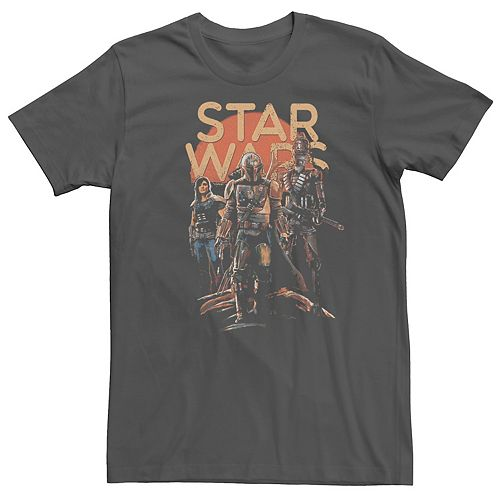 Men's Star Wars The Mandalorian Character Entourage Graphic Tee