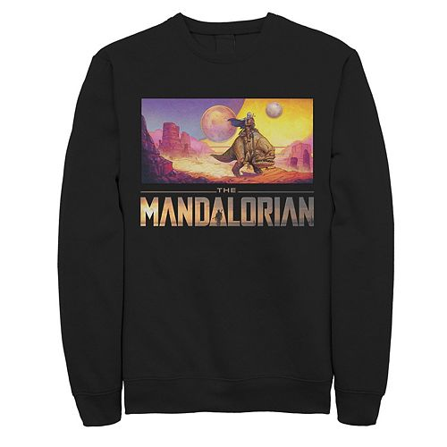 Men's Star Wars The Mandalorian Dreamscape Journey Graphic Fleece Pullover