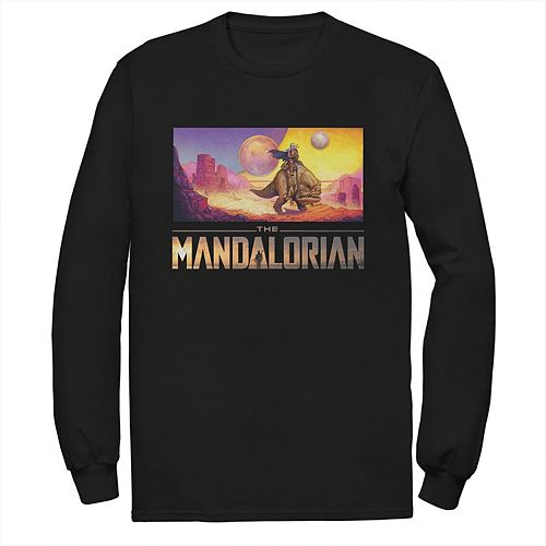 Men's Star Wars The Mandalorian Dreamscape Journey Long Sleeve Graphic Tee