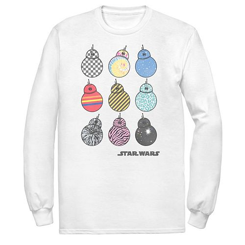 Men's Star Wars The Rise of Skywalker BB-8 Fashion Long Sleeve Graphic Tee
