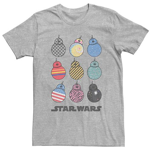 Men's Star Wars The Rise of Skywalker BB-8 Fashion Graphic Tee