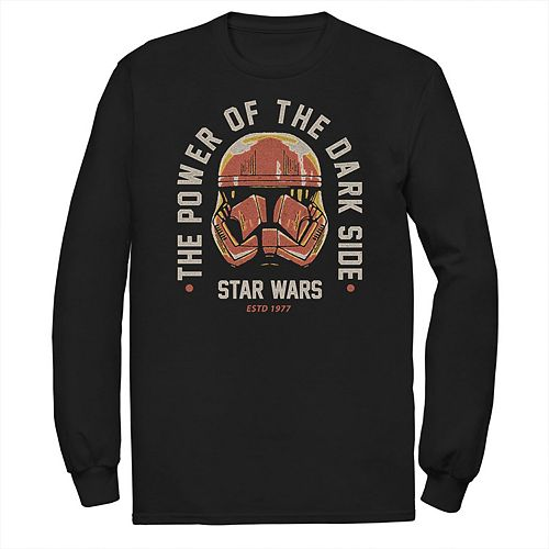 Men's Star Wars The Rise of Skywalker Power of Sith Trooper Long Sleeve Graphic Tee