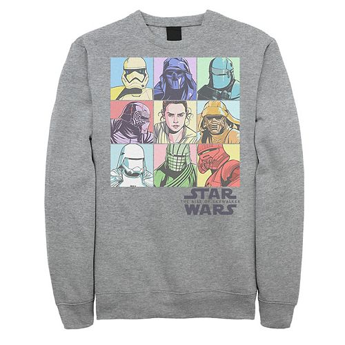 Men's Star Wars The Rise of Skywalker Pastel Character Bingo Graphic Fleece Pullover