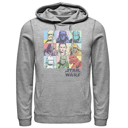 Men's Star Wars The Rise of Skywalker Pastel Character Bingo Graphic Hoodie