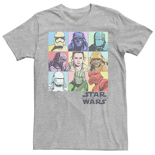 Men's Star Wars The Rise of Skywalker Pastel Character Bingo Graphic Tee