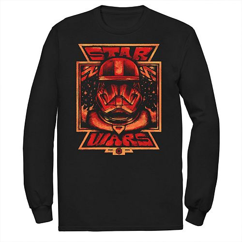 Men's Star Wars The Rise of Skywalker Artistic Sith Trooper Long Sleeve Graphic Tee