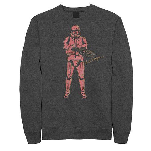 Men's Star Wars The Rise of Skywalker Sith Trooper Villain Graphic Fleece Pullover