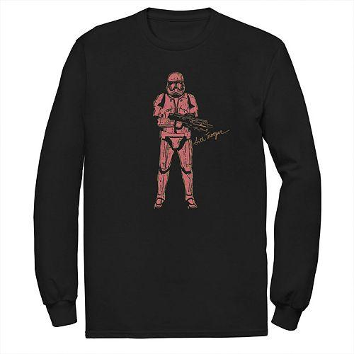 Men's Star Wars The Rise of Skywalker Sith Trooper Villain Long Sleeve Graphic Tee