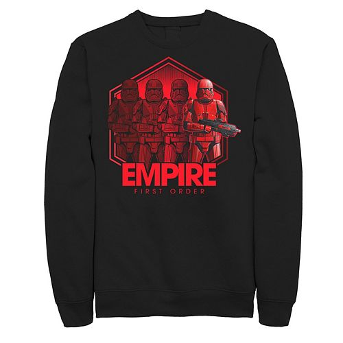 Men's Star Wars The Rise of Skywalker Sith Trooper Reflection Graphic Fleece Pullover