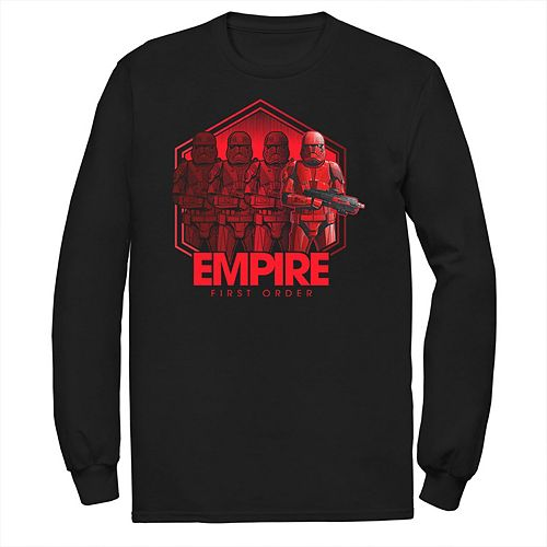 Men's Star Wars The Rise of Skywalker Sith Trooper Reflection Long Sleeve Graphic Tee