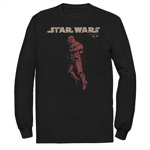 Men's Star Wars The Rise of Skywalker Retro Sith Trooper Flight Long Sleeve Graphic Tee