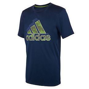Boys 8-20 adidas Camo Print Logo Tee