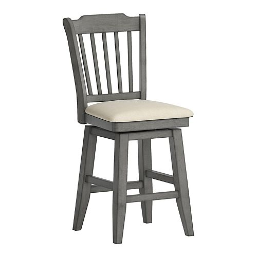 HomeVance Zackery Spindle Back Swivel Dining Chair
