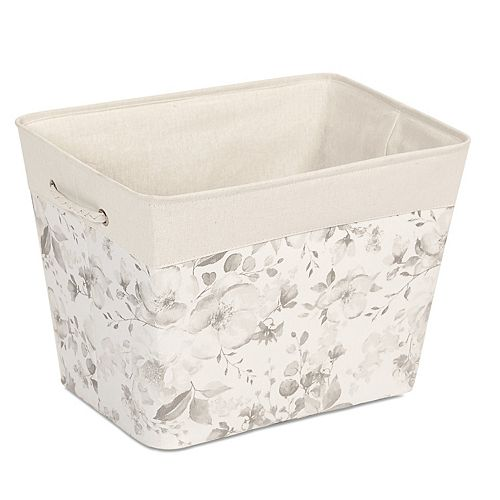 Soho Market Floral Canvas Storage Tote