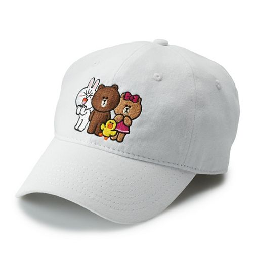 Women's Line Friends Embroidered Character Baseball Cap