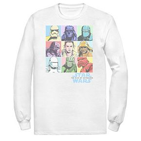 Men's Star Wars The Rise of Skywalker Pastel Character Box Tee