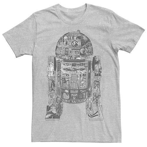 Men's Star Wars Epic R2-D2 Panel Tee