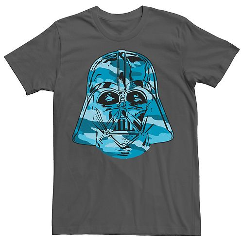 Men's Star Wars Darth Vader Grey Camo Helmet Tee