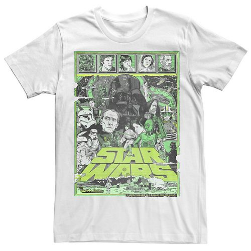 Men S Star Wars Episode Iv Cast Collage Tee
