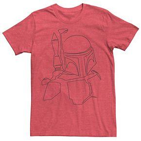 Men's Star Wars Boba Fett Outline Tee