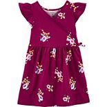 Toddler Girl Carter's Floral Faux-Wrap Dress