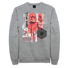 Men's Star Wars The Rise of Skywalker Sith Trooper Schematic Sweatshirt