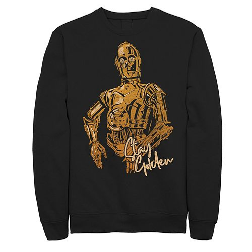 Men's Star Wars The Rise of Skywalker C-3PO Stay Golden Fleece Graphic Top
