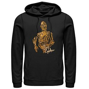 Men's Star Wars The Rise of Skywalker C-3PO Stay Golden Graphic Hoodie