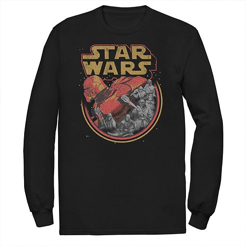 Men's Star Wars The Rise of Skywalker Retro Knights of Ren Long Sleeve Graphic Tee