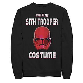 Men's Star Wars The Rise of Skywalker Halloween Sith Trooper Costume Fleece Graphic Top