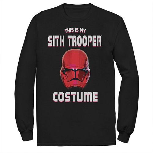 Men's Star Wars The Rise of Skywalker Halloween Sith Trooper Costume Long Sleeve Graphic Tee